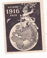 Vignette Militaire Delandre - Patriotique - Victoire 1916 - Paix - Noir - Vignettes Militaires