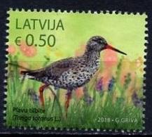 Lettonie - Lettland - Latvia 2018 Y&T N°(2) - Michel N°(?) (o) - 0,50€ Chevalier Gambette - Lettland
