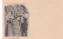 TYPES BETHMALAIS AVEC FAUX (ARIEGE) SAINT GIRONS. IMP A RIVES EDIT. CPA CIRCA 1904 TBE RARE - BLEUP - Personajes