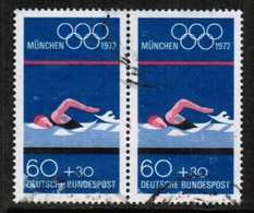 GERMANY  Scott # B 488 VF USED PAIR (Stamp Scan # 497) - [7] Federal Republic