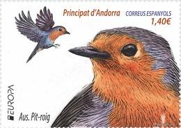 "ANDORRA ESPAÑOLA /SPANISH ANDORRE- EUROPA 2019 -NATIONAL BIRDS.-""AVES - BIRDS - VÖGEL -OISEAUX""- SERIE De 1 V. - 2019"