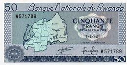 RWANDA=1976    50  FRANCS     P-7     UNC - Rwanda
