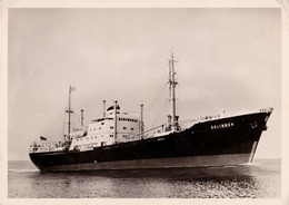 "M. S. "" SOLINGEN "" / HAMBURG - AMERIKA LINIE  / HAPAG ~ 1955 - '956 (ac164) - Commerce"