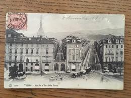CPA, TORINO, Via Po E Via Della Zecca, écrite En 1908, Timbre - Other