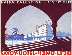 @@@ MAGNET - Haifa Palestine Savoy Hotel Israel - Advertising