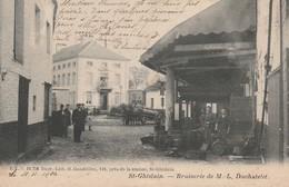 St Ghislain  Brasserie De M.L.Duchatelet Super Animée Circulé En 1904 - Saint-Ghislain