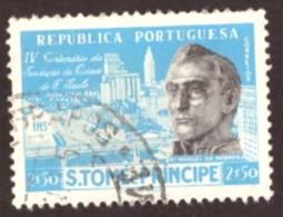 São Tomé E Principe 1954 - 4º Centenário Da Fundação Da Cidade De São Paulo 2$50 - St. Thomas & Prince