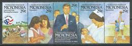 Micronésie YT N°194/198 John F. Kennedy (Bande Se-tenant) Neuf ** - Micronésie