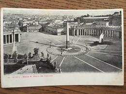 Cpa, Roma, Piazza San Pierro Dal Vatican - Places