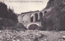 CHEMIN DE FER DU FAYET A CHAMONIX. PONT DE SAINTE MARIE. NEOBRUMURE A BREGER FRERES. CPA CIRCA 1900s - BLEUP - Saint-Gervais-les-Bains