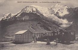 SAINT GERVAIS LES BAINS. LA CREMAILLERE DU MONT BLANC. CLICHE M BOURREY. CPA CIRCA 1900s - BLEUP - Saint-Gervais-les-Bains