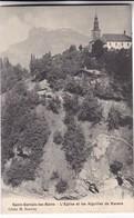 SAINT GERVAIS LES BAINS. L'EGLISE ET LES AIGUILLES DE NARENS. CLICHE M BOURREY. CPA CIRCA 1900s - BLEUP - Saint-Gervais-les-Bains
