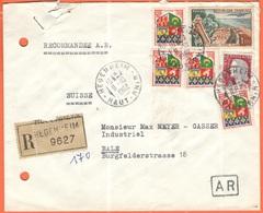 FRANCIA - France - 1962 - 4 X 0,05 Oran + 1,00 Le Touquet-Paris-Plage + 0,25 Marianne De Decaris - Recommandée A.R. - Vi - Francia