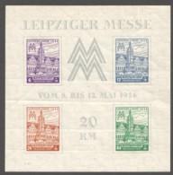 West Sachsen Leipziger Messe Block  Mi Nr Block5 Y A * - Soviet Zone