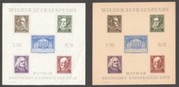 Thuringen 1946 Wimar Deutsches Nationaltheaterblock  Paar  MiNr Block 3 Ba Ya ** Und AX (*) - Soviet Zone
