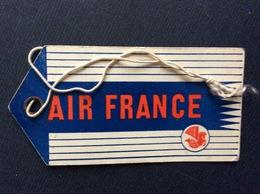 ÉTIQUETTE À BAGAGES AIR FRANCE  Mars 1956 - Étiquettes à Bagages