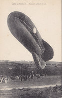 Cpa 2 Scans Camp De Mailly Saucisse Quittant Le Sol - Airships