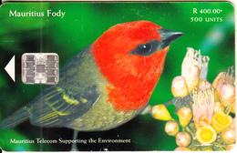 MAURITIUS ISL. - Bird, Mauritius Fody, Tirage 40000, 09/00, Used - Mauritius