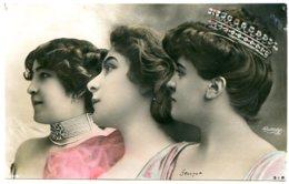Brochette De 3 Artistes Photographiées Par Reutlinger - Voir Détails Dans La Description - Artistes