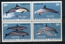 Marshall Is 1984 Ausipex Dolphin Blk4 Muh - Marshall Islands