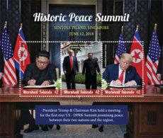 Marshall Islands   2018 US-DPR Korea Summit Singapore Trump And Kim Jong-un    I201901 - Marshall Islands