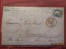 Lettre De 1872 à Destination De Boisemont - Marcophilie (Lettres)