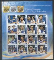Greece 2004 Athens Olympics Winners (litho) Sheet MUH - Greece