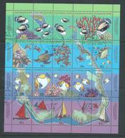 Cocos Keeling Island 1994 Map & Reef Life Sheetlet Of 16 VFU , Australian Cds - Cocos (Keeling) Islands