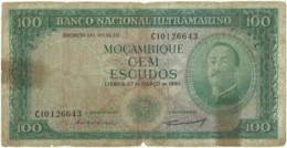 Mozambique - 100 Escudos - 27.03.1961 - P 109a - 8 Digits - Sign Varieties - AIRES DE ORNELAS - PORTUGAL - Moçambique