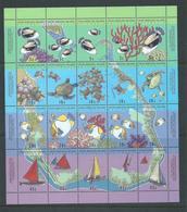 Cocos Keeling Island 1994 Map & Reef Life Sheetlet Of 16 MNH - Cocos (Keeling) Islands