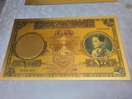 IRAQ BANKNOTES , GOLD KING GHAZI Banknotes High Thick Quality  100 DINARS - Iraq