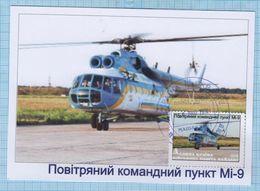 UKRAINE / Maidan Post / Military Mail. Maxi Card / Air Force Aviation. MI-9 Helicopter. 2016. - Oekraïne