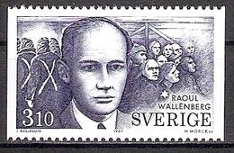 Schweden Mi.Nr. 1443 ** Raoul Wallenberg / Diplomat (201766) - Ungebraucht