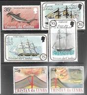 Tristan Da Cunha  1982   Sc#305 MNG, 307-9, 322-3 MNH   6 Diff  2016 Scott Value $4 - Tristan Da Cunha
