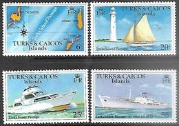 Turks & Caicos Islands  1978   Sc#338-41  Shipping Set  MNH   2016 Scott Value $2.65 - Turks & Caicos (I. Turques Et Caïques)