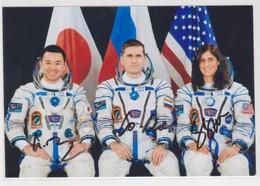 MAKMARKA SPACE RUSSIA 2012.07.15 START SOYUZ TMA-05M AUTOGRAPHERS MALENCHENKO/WILLIAMS/HOSHIDE 1 PHOTO (15Х10)(D-26) - Autographs