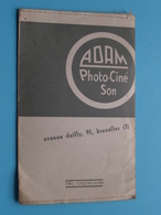 Kaftje ( + Photo ) ADAM Photo-Ciné Son Bruxelles Av. DAILLY 91 >> Anno 19?? ( Voir / Zie Foto's ) ! - Altri