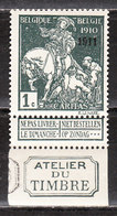 93**  Caritas Surchargé 1911 - Bonne Valeur Avec Inscriptions Marginales - MNH** - COB 290 - Vendu à 15% Du COB!!!! - 1910-1911 Caritas