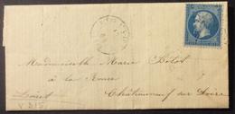 V315 Vitry Aux Loges Loiret GC 4302 12/7/1864 N°22 - 1849-1876: Classic Period