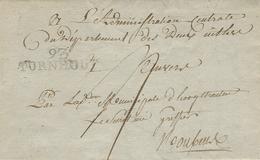 An 6- Lettre  De 93 / TURNHOUT ( Les Deux-Nethes ) 42 Mm Hauteur 11 Mm - 1794-1814 (Periodo Francese)