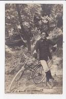 CARTE PHOTO MILITARIA Chasseur Alpin Avec Son Vélo (ecrite Des Alpes Maritimes) - Personajes