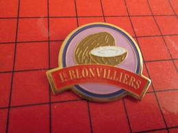 813e Pin's Pins / Rare Et De Belle Qualité / THEME ALIMENTATION : SUCRE SUSUCRE Ouiiiiii ! LE BLONVILLIERS NOIX DE COCO - Alimentation