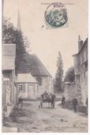 27 Eure -  PUCHAY - Rue De L'Eglise - Attelage - 1905 Cachet OR - France