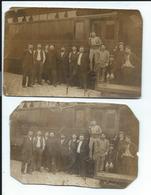54 Luneville Lot De 2 Cartes Photos En Mauvais état - Trains