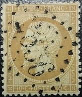 FRANCE Y&T N°21 Napoléon 10c Bistre. Oblitéré Losange GC. N°2656 Nice - 1862 Napoleon III