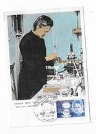 Carte Maximum 1967 Marie Curie Dans Son Laboratoire - Maximumkaarten