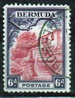 Bermuda George V 6d Single Stamp From The 1936 Definitive Set. - Bermuda