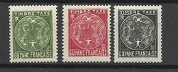 Guyane Taxe   N° 22  à   24   Neufs  *     B/ TB   Soldé à Moins De  20 %  ! ! ! - Unused Stamps