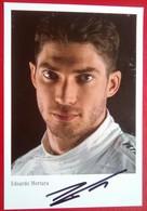 Mercedes Team  Eduardo Mortars  Signed Card - Autorennen - F1