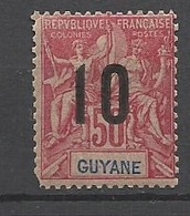 Guyane   Poste   N°72A   Chiffres Espacés     Neuf  *     AB/ B   Soldé à Moins De  10  %      ! ! ! - Unused Stamps